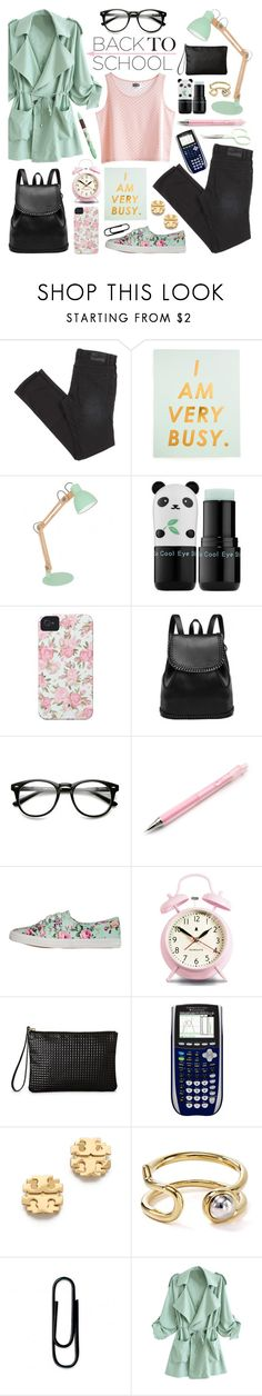 """""""Back to School: Fall Jacket"""" by lgb321 ❤ liked on Polyvore featuring Tony Moly, Case-Mate, yeswalker, Newgate, MTWTFSS Weekday, Mead, Tory Burch, Marc by Marc Jacobs, women's clothing and women"""