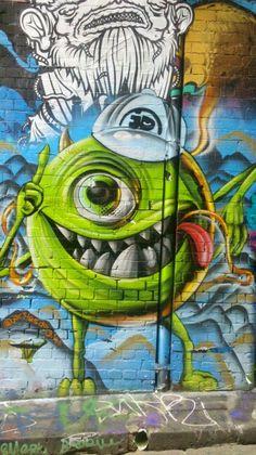 Flinders lane Melbourne Australia street art