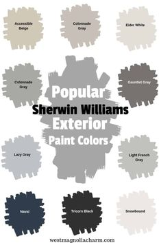 Check out some of the most popular Sherwin Williams exterior paint colors. These Sherwin WIlliams paint colors are guaranteed to boost the curb appeal of your homes exterior. #exterior #painting #outdoor #curbappeal