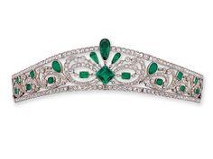An Edwardian Emerald and Diamond Tiara, circa 1910