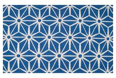 Bricklow Flat-Weave Rug, Blue