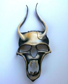 Demon Leather Mask by mrhydesleather on Etsy, $85.00