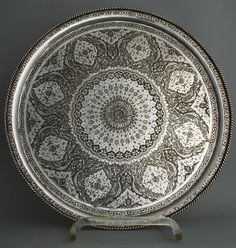 SILVER FROM THE EAST » Islamic Silver from the Middle East » Isfahan Solid Silver Salver