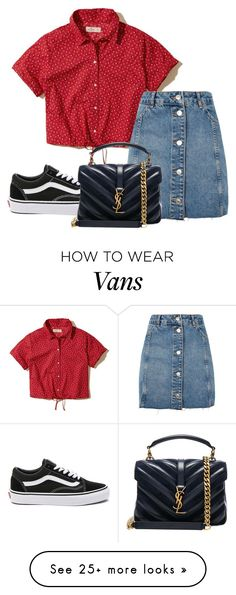 """Your reality is perfect"" by yourlovewillneverlast on Polyvore featuring Hollister Co., Topshop, Vans and Yves Saint Laurent"