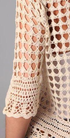 29 Ideas For Clothes Hippie Boho Lace Dresses Crochet Shirt, Crochet Cardigan, Hand Crochet, Crochet Lace, Crochet Stitches, Crochet Summer Dresses, Crochet Woman, Crochet Fashion, Handmade Clothes