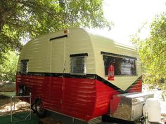 I like this paint job on outside of camper... red, black and white