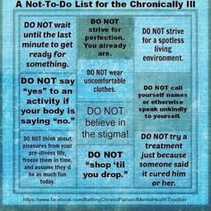 what not to say to someone with chronic fatigue syndrome