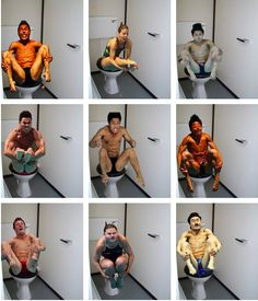 Olympic Divers on Toilets