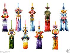 Korea-traditional-a-pendent-trinket-worn-for-women-counted-cross-stitch-Chart