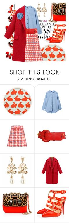 """Preppy chic"" by pensivepeacock ❤ liked on Polyvore featuring Anorak, Miu Miu, Yves Saint Laurent, Christian Louboutin and Lanvin"