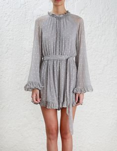 Zimmermann Stranded Playsuit. Model Image.
