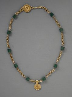Gold Necklace with Medallion Depicting a Goddess,  30 BCE - 300 CE
