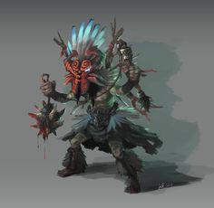 Shaman, Weidi Kang on ArtStation at https://www.artstation.com/artwork/shaman-9f9bb71b-d984-44aa-8669-be3836b80d53