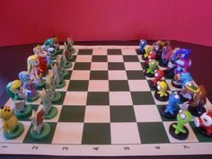Legend of Zelda Chess Set.  If I owned this I just might learn to play chess
