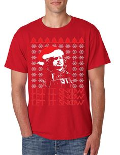 Men's T Shirt Let It Snow Ugly Christmas Sweater Jon Snow Gift