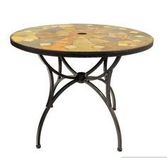 Sol 72 Outdoor Hiebert Dining Table & Reviews | Wayfair.co.uk Steel Dining Table, Rattan Coffee Table, Extendable Dining Table, Round Folding Table, Wooden Side Table, Hazelwood Home, Wood Bridge, Picnic Table, Outdoor Furniture