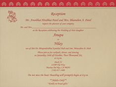 An example of how your invitation insert would look insert wording indian wedding invitation sample and wording stopboris Image collections