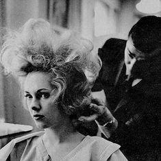 Teased Hair, Bouffant Hair, Hair Setting, Roller Set, Retro Hairstyles, Beauty Shop, Updos, My Hair, Hair Beauty