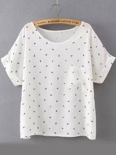camiseta bolsillo topos-blanco 10.40