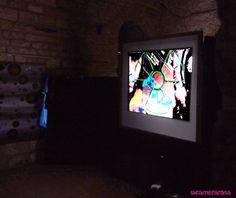 """Performance """"kritic"""",live,Jordi Bofill,Cosmos Art,Visual,visionary art. 2015. Castillo de la Bisbal d´Empordà (Girona)"""