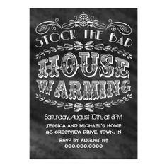 Stock The Bar House Warming Party Custom Invitations