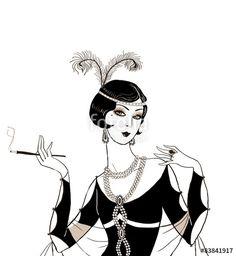 Image result for art deco girl illustrations