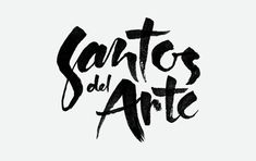 Handlettered logo for Santos del Arte Hand Drawn Lettering, Typography Fonts, Letter Logo, Logo Nasa, American Artists, Script, How To Draw Hands, Calligraphy, Design