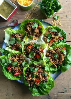 Mexican Turkey Lettuce Wraps are made in under 20 minutes. If you like tacos, this will be right up your alley but a lighter, healthier version with the same flavor. This makes a great light lunch, or an easy dinner for the family. // A Cedar Spoon