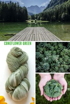 Naturally flower dyed green yarn especially for sock or shawl knitting. Part of the Garden Yarn line from KnittyVet - click to learn more!