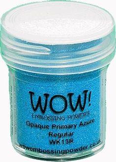 Wow Embossing poeder Azure Regular 15ml jar