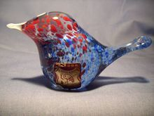 Ruckl Bohemian Glass Miniature Bird