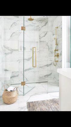 Bathroom Design Luxury, Bathroom Design Small, Master Bathroom Designs, Bathroom Ideas White, Modern White Bathroom, Bathroom Trends, Bathroom Inspo, Simple Bathroom, Kitchen Design