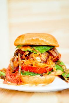 Chicken Burger with Spicy Mayo and Bacon