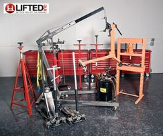 Lifted, Inc. DIY Car Workshop.  We offer two main service options: basic service rental (which includes hand tools, jack, jack stands, and working space) and premium service rental (which includes all tools available and a working space with car lift).