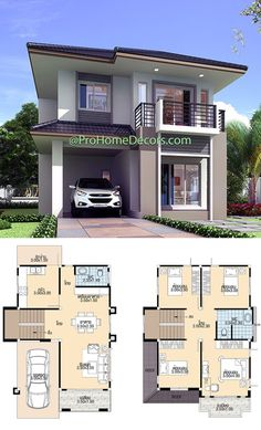 House Layout Plans, New House Plans, House Layouts, House Floor Plans, Small House Exteriors, Small Modern House Plans, Beautiful House Plans, Duplex House Design, Simple House Design