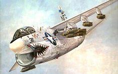 Jet Aviation, Airplane Art, Nose Art, Military Art, War Machine, Military Aircraft, Vietnam, Fighter Jets, History