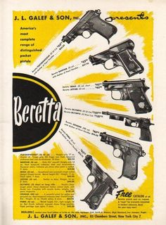 Vintage Beretta Pistol AdLoading that magazine is a pain! Get your Magazine speedloader today! http://www.amazon.com/shops/raeind