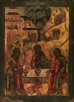 Hospitality of Abraham ___ yr. Early Christian, Christian Art, Blacks In The Bible, Black Hebrew Israelites, Biblical Art, Biblical Hebrew, Black Jesus, 12 Tribes Of Israel, Black History Facts
