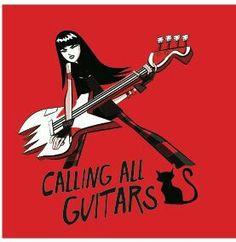 Emily the Strange Calling All Guitars #Emily #comic #music