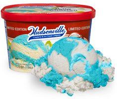 Hudsonville Lake Affection- Refreshing Lake Michigan blue mint ice cream swirled with snowy Vanilla ice cream