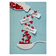 get well soon / bon rétablissement Cute Cards, Diy Cards, Sympathy Cards, Greeting Cards, Tarjetas Diy, Karten Diy, Get Well Cards, Creative Cards, Creative Ideas