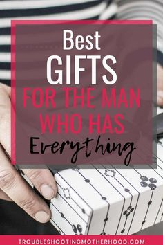 Over 20 ideas for the best gift ideas for your husband, boyfriend or any special man in your life. Use this gift guide to help you pick out the best gifts for special occasions like birthdays, holidays or just because gifts. Also great gift ideas for your husband's 40th birthday! #mangifts #manpresent #giftguideforhim #giftsforhim