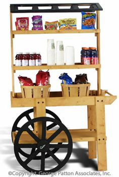 Wooden Display Cart: paint it white, add a solid roof with flowers, bright paper, etc.