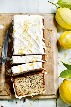 Lemon & Poppy Seed Drizzle Loaf | DonalSkehan.com, A healthier take on Lemon Drizzle from Indy Power's new book The Little Green Spoon.