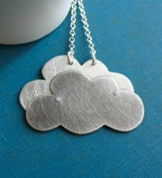 Silver Lining Cloud Necklace
