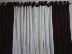 cortina dupla com bando combinando