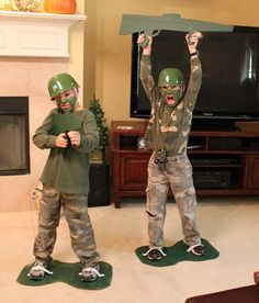 Toy soldier costume - using clothes you have on hand!