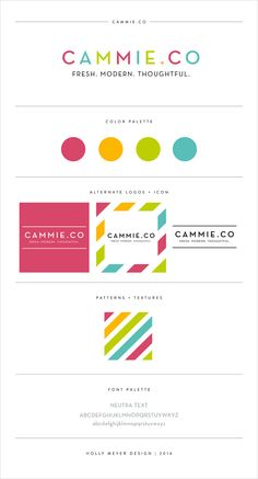 Cammie Co. branding by Holly Meyer Design