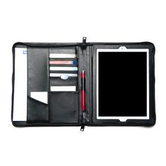 iLuv: The iLuv CEOFolio case for the iPad 3 is a briefcase, folder and iPad case all in one. The sturdy black leather will hid any dirt or stains while protecting your iPad inside. There are numerous pocket slots for business cards, credit cards, IDs and more. The case also comes with an ePen stylus holder and a slot for a note pad