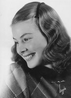 A young and glorious  Ingrid Bergman.  So splendid in  beauty, so ripe with potential. lmr